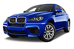 Low aggressive front three quarter view of a 2013 Bmw X6 M 5 Door Suv 4WD