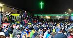 """05.12.2019, Baywa-Gelaende, Memmingen, GER, Bauern-Demonstration in Memmingen, Ueber 4000 Bauern demonstrierten mit fast 3000 Traktoren in Memmingen. Organisiert wurde die Demo von """"Land schafft Verbindung"""". Auf der anschliesenden Kundgebung sprach ua. die bayr. Landwirtschaftsministerin Michaela Kaniber, <br /> im Bild protestierende Landwirte<br /> <br /> Foto © nordphoto / Hafner"""