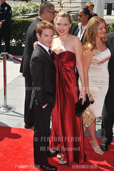 Seth Green & Clare Grant at the 2009 Creative Arts Emmy Awards at the Nokia Theatre L.A. Live in Downtown Los Angeles..September 12, 2009  Los Angeles, CA.Picture: Paul Smith / Featureflash