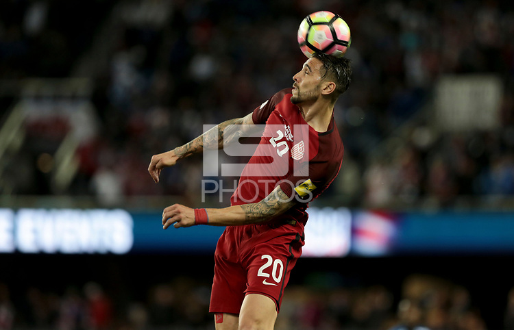 San Jose, CA - March 24, 2017: The U.S. Men's National team go up 3-0 over Honduras in first half action during their 2018 FIFA World Cup Qualifying Hexagonal match at Avaya Stadium.