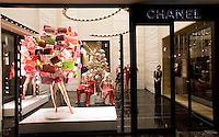 The entrance of Chanel boutique in Peninsula hotel in Shanghai, on December 3, 2009. Chanel's Peninsula hotel boutique is the largest Chanel store in China and was opened on December 3. Photo by Lucas Schifres/Pictobank