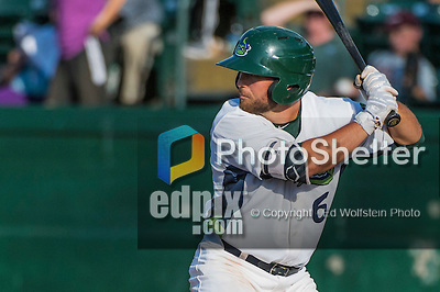 31 July 2016: Vermont Lake Monsters infielder Nate Mondou in action against the Connecticut Tigers at Centennial Field in Burlington, Vermont. The Lake Monsters edged out the Tigers 4-3 in NY Penn League action.  Mandatory Credit: Ed Wolfstein Photo *** RAW (NEF) Image File Available ***