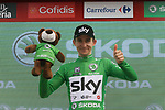 Michal Kwiatkowski (POL) Team Sky retains the points Green Jersey at the end of Stage 6 of the La Vuelta 2018, running 150.7km from Hu&eacute;rcal-Overa to San Javier, Mar Menor, Sierra de la Alfaguara, Andalucia, Spain. 30th August 2018.<br /> Picture: Colin Flockton | Cyclefile<br /> <br /> <br /> All photos usage must carry mandatory copyright credit (&copy; Cyclefile | Colin Flockton)