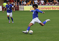 Marouane Fellaini in the Motherwell v Everton friendly match at Fir Park, Motherwell on 21.7.12 for Steven Hammell's Testimonial.
