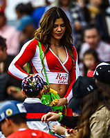 Edecan .<br /> <br /> Aspectos del segundo d&iacute;a de actividades de la Serie del Caribe con el partido de beisbol  &Aacute;guilas Cibae&ntilde;as de Republica Dominicana contra Caribes de Anzo&aacute;tegui de Venezuela en estadio Panamericano en Guadalajara, M&eacute;xico,  s&aacute;bado 3 feb 2018. (Foto  / Luis Gutierrez)