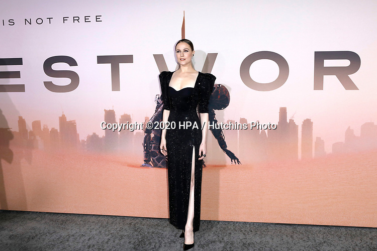 """LOS ANGELES - MAR 5:  Evan Rachel Wood at the """"Westworld"""" Season 3 Premiere at the TCL Chinese Theater IMAX on March 5, 2020 in Los Angeles, CA"""