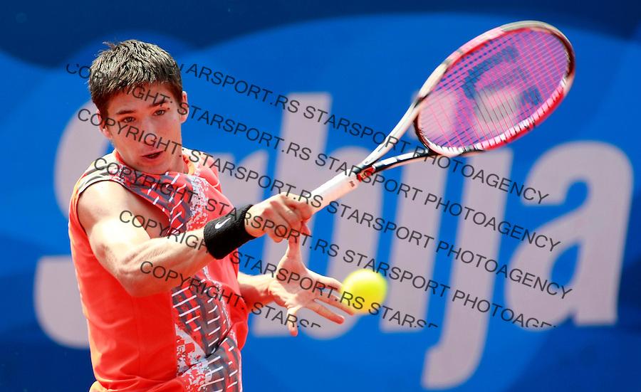 Tenis.ATP Serbia Open 2009.Santiago Ventura Vs. Dusan Lajovic, kvalifikacije.Dusan Lajovic.Beograd, 03.05.2009..foto: Srdjan Stevanovic/Starsportphoto.com ©