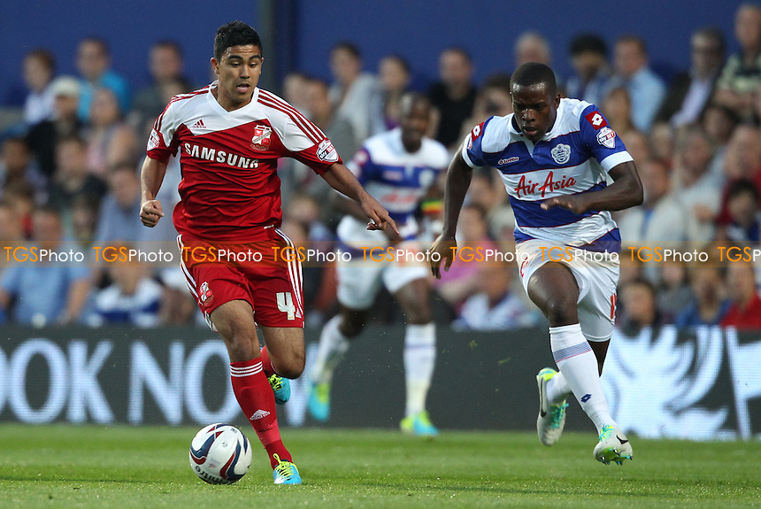 Massimo Luongo of Swindon Town advances - Queens Park Rangers vs Swindon Town - Capital One Cup Second Round Football at Loftus Road Stadium, South Africa Road, London - 27/08/13 - MANDATORY CREDIT: Simon Roe/TGSPHOTO - Self billing applies where appropriate - 0845 094 6026 - contact@tgsphoto.co.uk - NO UNPAID USE