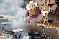 In October, the 22nd Annual Lincoln County Cowboy Symposium brought together  chuckwagon crews and cooks from ranches all over the southwest to compete in preparing food for a hungry crowd. The Rocking Double R Chuckwagon of Susan and Russ Richins from Phoenix features a smoky kitchen.