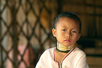 In the past Kayan girls were fitted with the rings at the age of five or six. The process would continue with successive ring being added every couple years. Over the years the weight of added rings crushes their collarbones and ribs and deforms their clavicle. Tourist dollars generated from scores of gawkers and curious travelers have inspired Kayan women in Thailand to continue the cultural tradition into the next generation.