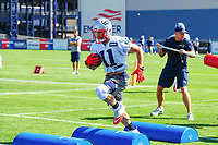July 28, 2017: New England Patriots wide receiver Julian Edelman (11) runs through a drill at the New England Patriots training camp held at Gillette Stadium, in Foxborough, Massachusetts. Eric Canha/CSM