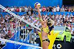 26.08.2017, Hamburg, Stadion Am Rothenbaum<br />Beachvolleyball, World Tour Finals<br /><br />Angriff Laura Ludwig (#1 GER)<br /><br />  Foto © nordphoto / Kurth