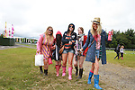 Caoimhe Keogh, Megan Devereux, Becca Crosbie, Rina Synott and Susan Fox on Day 1 of the Oxegen Festival, Punchestown, Co.Kildare...(Photo credit should read Jenny Matthews www.newsfile.ie)....This Picture has been sent you under the conditions enclosed by:.Newsfile Ltd..The Studio,.Millmount Abbey,.Drogheda,.Co Meath..Ireland..Tel: +353(0)41-9871240.Fax: +353(0)41-9871260.GSM: +353(0)86-2500958.email: pictures@newsfile.ie.www.newsfile.ie.