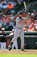 Detroit Tigers first baeman Jordan Lennerton (74) during a Spring Training game against the Baltimore Orioles on March 4, 2015 at Ed Smith Stadium in Sarasota, Florida.  Detroit defeated Baltimore 5-4.  (Mike Janes/Four Seam Images)