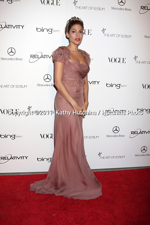 LOS ANGELES - JAN 15:  Eva Mendes arrives at the Art Of Elysium 'Heaven' Gala 2011 at The California Science Center Exposition Park  on January 15, 2011 in Los Angeles, CA