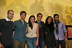 "West Side Story cast - left to right - Curtis Holbrook, Matt Cavenaugh, Josefina Scaglione, Cody Green, Karen Olivo, George Akram sign new cd and Matt Cavenaugh ""Adam Munson"" - ATWT stars as Tony in Broadway's West Side Story and sings with Josefina Scaglione ""Maria"" on June 11, 2009 at Barnes and Noble, Lincoln Square, New York City, New York. - Photo by Sue Coflin/Max Photos"