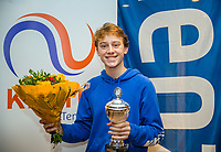 Hilversum, Netherlands, December 3, 2017, Winter Youth Circuit Masters, 12,14,and 16, years, prizegiving 16 years<br /> , 2 th place boys : Guy den Ouden<br /> Photo: Tennisimages/Henk Koster