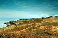 Killantringan Lighthouse from the Southern Upland Way near Portpatrick, Dumfries and Galloway