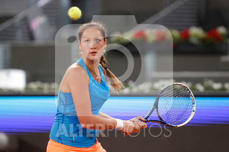 Russian tennis player Bojana Jovanovski during Madrid Open Tennis 2014 match. May 06, 2014. (ALTERPHOTOS/Victor Blanco)