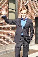 May 17, 2012: Conan O'Brien at Late Show with David Letterman to talk about Conan talk show in New York City. Credit: RW/MediaPunch Inc.