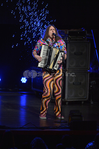 MIAMI, FL - JUNE 10: 'Weird Al' Yankovic performs at Adrienne Arsht Center Ziff Ballet Opera House on June 10, 2016 in Miami, Florida.  Credit: MPI10 / MediaPunch