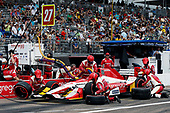 2017 Verizon IndyCar Series - Firestone Grand Prix of St. Petersburg<br /> St. Petersburg, FL USA<br /> Sunday 12 March 2017<br /> Marco Andretti pit stop<br /> World Copyright:Sam Cobb/LAT Images<br /> ref: Digital Image cobb-stpete-170312-4449