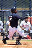 GCL Yankees 1 outfielder Alexander Palma (36) at bat during the first game of a doubleheader against the GCL Braves on July 1, 2014 at the Yankees Minor League Complex in Tampa, Florida.  GCL Yankees 1 defeated the GCL Braves 7-1.  (Mike Janes/Four Seam Images)