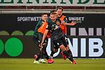 Jubel Ludwig Augustinsson (Werder Bremen #05) nach dem 1:2 Philipp Bargfrede (Werder Bremen #44), Leonardo Bittencourt  (Werder Bremen #10)Milot Rashica (Werder Bremen #07)<br /> <br /> <br /> Sport: nphgm001: Fussball: 1. Bundesliga: Saison 19/20: Relegation 02; 1.FC Heidenheim vs SV Werder Bremen - 06.07.2020<br /> <br /> Foto: gumzmedia/nordphoto/POOL <br /> <br /> DFL regulations prohibit any use of photographs as image sequences and/or quasi-video.<br /> EDITORIAL USE ONLY<br /> National and international News-Agencies OUT.