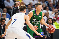 Real Madrid's player Luka Doncic and Unicaja Malaga's player Nemanja Nedovic during match of Liga Endesa at Barclaycard Center in Madrid. September 30, Spain. 2016. (ALTERPHOTOS/BorjaB.Hojas) /NORTEPHOTO.COM