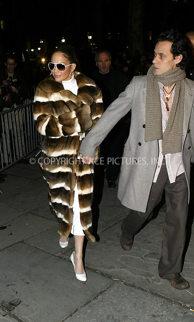 WWW.ACEPIXS.COM . . . . .  ....NEW YORK, FEBRUARY 11, 2005....Jennifer Lopez and Marc Anthony arrive for Jennifer's very first fashion line, Sweetface Fall 2005.....Please byline: Ian Wingfield - ACE PICTURES..... *** ***..Ace Pictures, Inc:  ..Philip Vaughan (646) 769-0430..e-mail: info@acepixs.com..web: http://www.acepixs.com