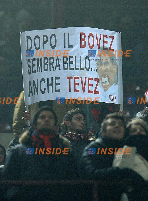 "tifoso (Milan).fans.Milano 15/1/2012 Stadio ""Giuseppe Meazza"".Serie A 2011/2012.Football Calcio Milan Vs Inter.Foto Insidefoto Alessandro Sabattini."