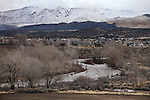 The northern Nevada region gets a brief reprieve in between storms, seen in Gardnerville, Nev. on Monday, Jan. 9, 2017. <br /> Photo by Cathleen Allison/Nevada Photo Source