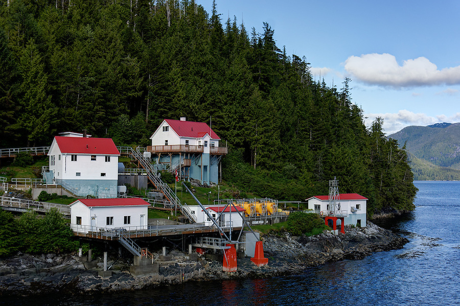 Boat Bluff Light Station, Sarah Island, Inside Passage, British Columbia, Canada