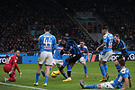 Romelu Lukaku of Inter has this chance blocked by Nikola Maksimovic of Napoli during the Coppa Italia match at Giuseppe Meazza, Milan. Picture date: 12th February 2020. Picture credit should read: Jonathan Moscrop/Sportimage