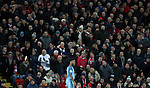 Raheem Sterling of Manchester City in front of Liverpool fans during the English Premier League match at Anfield Stadium, Liverpool. Picture date: December 31st, 2016. Photo credit should read: Lynne Cameron/Sportimage