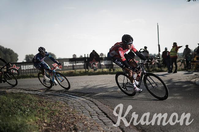 Jelle Wallays (BEL/Lotto-Soudal) cornering 1st<br /> <br /> 83rd Nationale Sluitingsprijs Putte-Kapellen 2016 (UCI Europe Tour cat 1.1 / 189km)