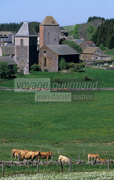 Europe/France/Auvergne/12/Aveyron: Aubrac - Village