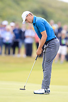 Jordan Spieth (USA) on the 8th during final round of The Open Championship 146th Royal Birkdale, Southport, England. 23/07/2017.<br /> Picture Fran Caffrey / Golffile.ie<br /> <br /> All photo usage must carry mandatory copyright credit (&copy; Golffile | Fran Caffrey)