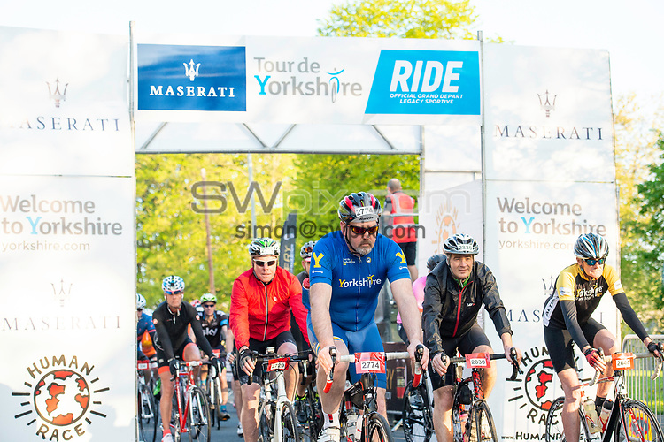 Picture by Allan McKenzie/SWpix.com - 06/05/2018 - Cycling - Maserati Human Race Sportive, Leeds, England - Riders Set off on the Sportive.