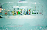 SWEDEN, Swedish Lapland, Jukkasjarvi, Ice Frozen Bottles