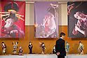 """Japanese dolls dressed in traditional wear of the Edo era are displayed at the """"Japanese Doll Exhibition"""" by Hisen Koike on October 11, 2014 in Tokyo, Japan. Hisen Koike, President of the Ningyou Bijustsu (Art of Dolls) Association, exhibited 100 scenes of Edo era life by showing the intricate dolls wearing traditional clothes and accessories of the time. The exhibition is being held from October 11 to 17 at Ginza Fenix Plaza in Tokyo. (Photo by Rodrigo Reyes Marin/AFLO)"""