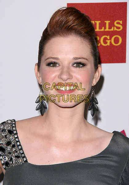 SARAH DREW .at The 22nd Annual Glaad Media Award held at The Westin Bonaventure  in Los Angeles, California, USA, .April 10th 2011..portrait headshot grey gray beaded strap                                                               smiling earrings beauty silver quiff .CAP/RKE/DVS.©DVS/RockinExposures/Capital Pictures.