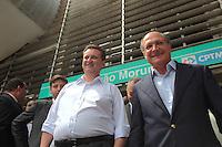 SAO PAULO, 29 DE MARÇO DE 2012. MONOTRILHO LINHA 17 - OURO  . O Governador Geraldo Alckmin e o Prefeito Gilberto Kassab  participam da cerimônia de assinatura da Autorização para o início das obras do monotrilho do metrô  da Linha 17 - ouro que ligará o aeroporto de Congonhas ao Morumbi na estação Morumbi da CPTM . FOTO: ADRIANA SPACA - BRAZIL PHOTO PRESS