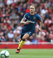 West Ham United's Marko Arnautovic<br /> <br /> Photographer Rob Newell/CameraSport<br /> <br /> The Premier League - Arsenal v West Ham United - Saturday August 25th 2018 - The Emirates - London<br /> <br /> World Copyright © 2018 CameraSport. All rights reserved. 43 Linden Ave. Countesthorpe. Leicester. England. LE8 5PG - Tel: +44 (0) 116 277 4147 - admin@camerasport.com - www.camerasport.com
