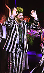 """Alex Brightman during the Broadway Opening Night Performance Curtain Call for """"Beetlejuice"""" at The Winter Garden on April 25, 2019 in New York City."""