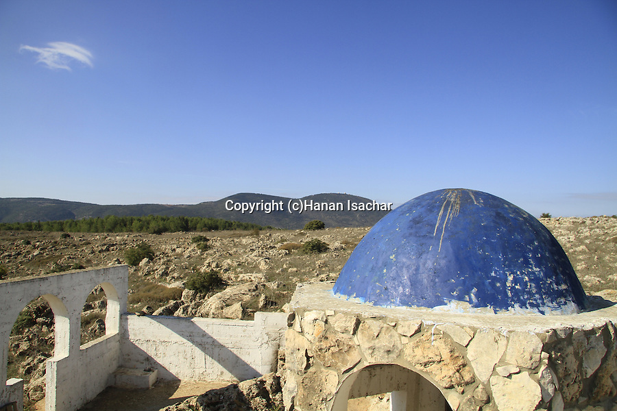 Israel, Upper Galilee, Tomb of Elkana by Meron-Biriya forest scenic road