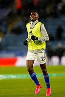 9th March 2020; King Power Stadium, Leicester, Midlands, England; English Premier League Football, Leicester City versus Aston Villa; Wilfred Ndidi of Leicester City warms-up prior to the match
