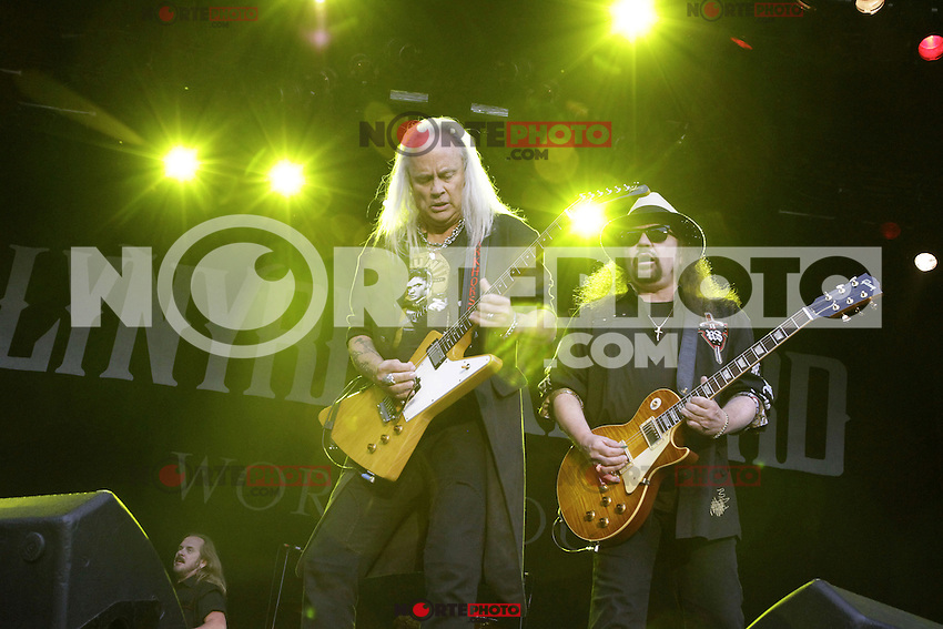 Guitar player Rickey Medlocke and Gary Rossington of Lynyrd Skynyrd during a concert at Citadel Music Festival held at Citadel Spandau in Berlin, Germany, 07.06.2012...Credit: Cliff/face to face /MediaPunch Inc. ***FOR USA ONLY*** /NORTEPHOTO.COM