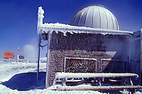 Observatory on the frozen summit of Mauna Kea, Big island of Hawaii