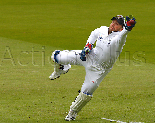 17.05.12 Lords,London, ENGLAND: ..A near miss for a catch behind the wicket from Matt Prior of England during the Investec First Test ( 1st Day of 5 )between England and West Indies